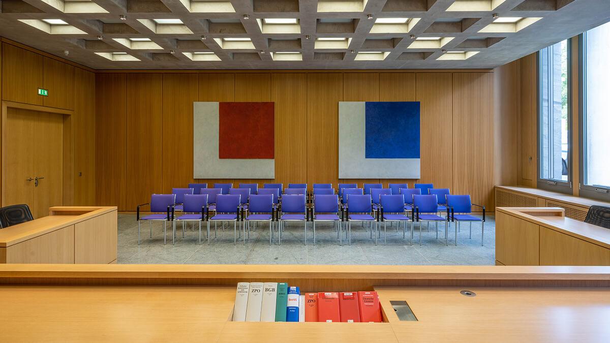 Sitzungssaal des Bundesarbeitsgerichts