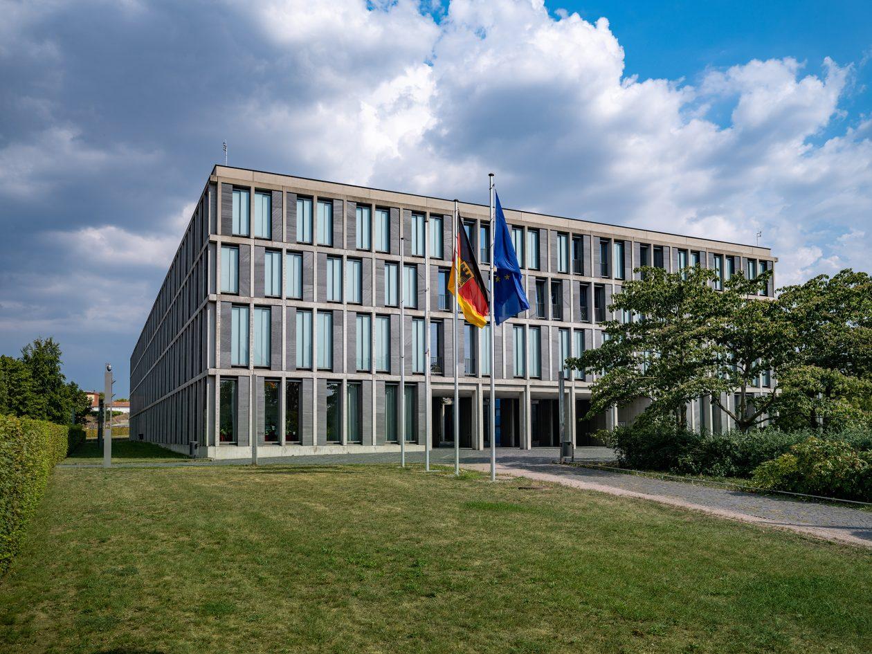Außenansicht des Bundesarbeitsgerichts, Eingang