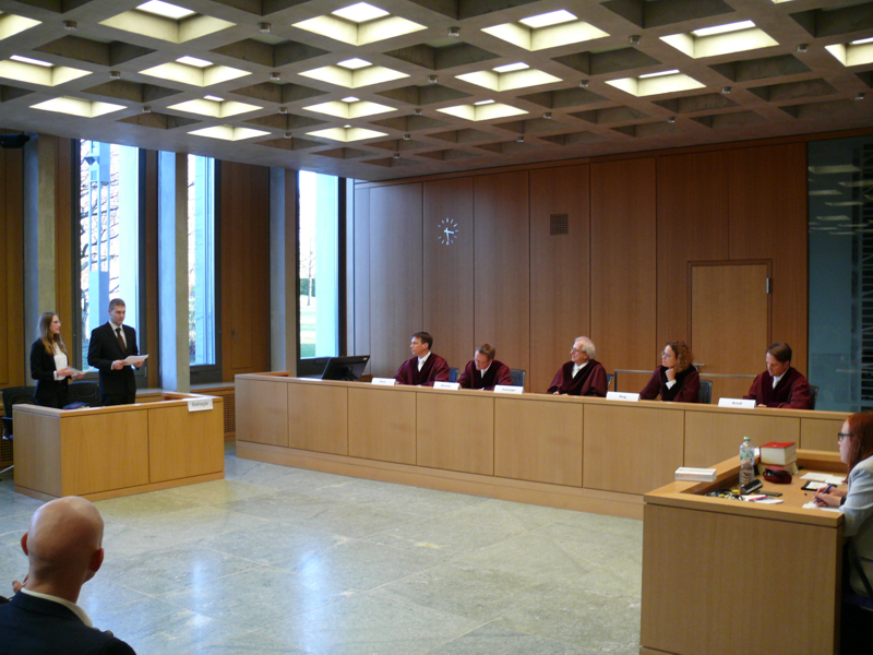 Impression of the Moot Court competition, 2019/20