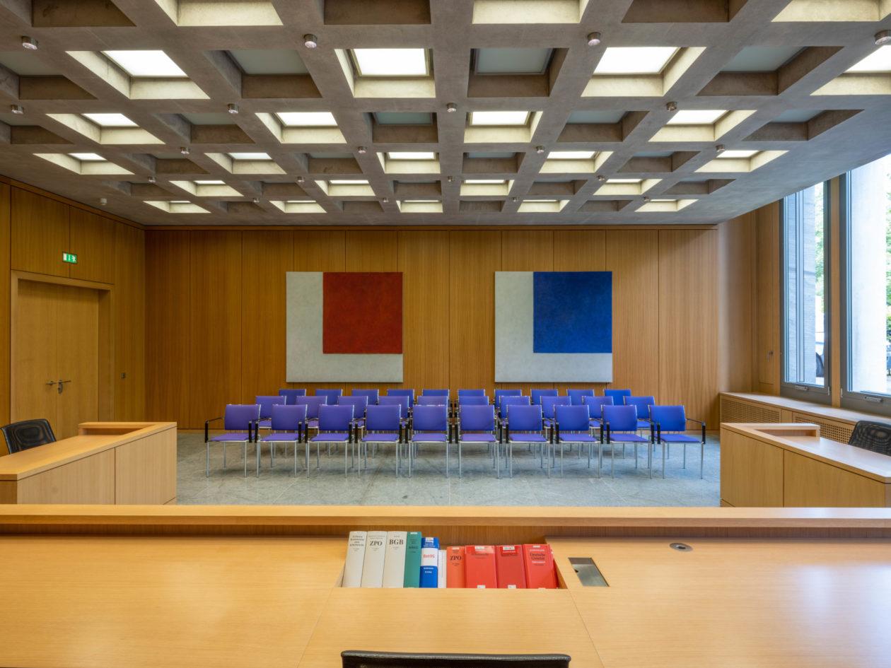 Ein Sitzungssaal von innen